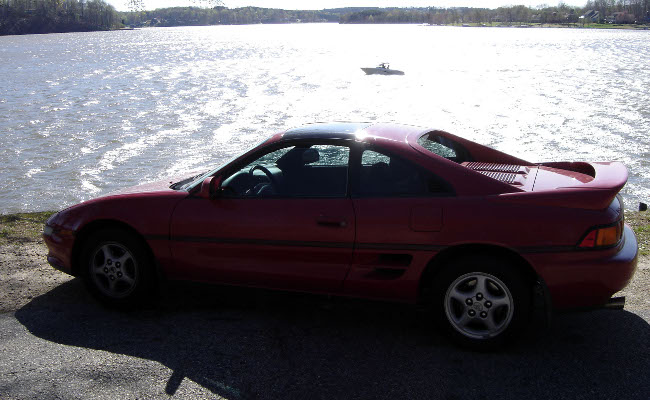 MR2 at a lake