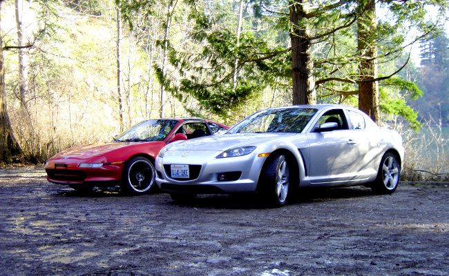 MR2 and RX-8 front-side view