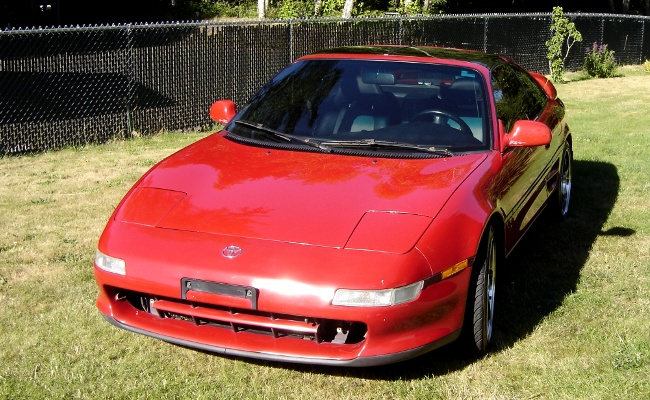 MR2 front view on grass